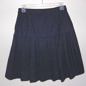 ModCloth Navy Blue Pleated Skirt